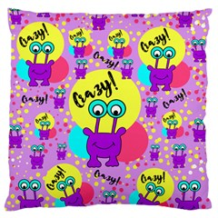 Crazy Large Flano Cushion Case (two Sides) by gasi