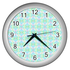 Pattern Wall Clocks (silver)  by gasi