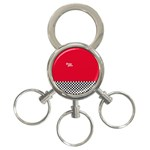 Racing Team 3-Ring Key Chains Front
