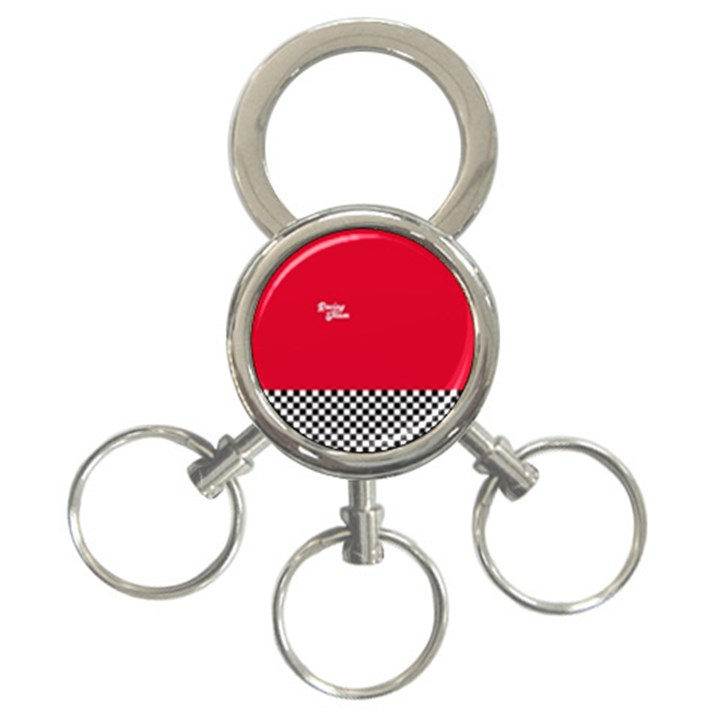 Racing Team 3-Ring Key Chains
