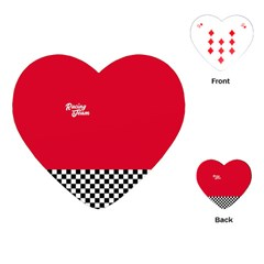 Racing Team Playing Cards (heart)  by gasi