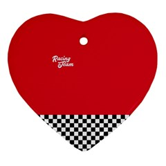 Racing Team Heart Ornament (two Sides) by gasi