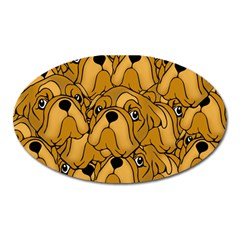 Bulldogge Oval Magnet by gasi