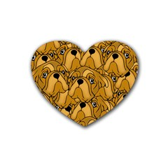 Bulldogge Heart Coaster (4 Pack)  by gasi