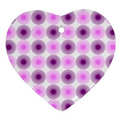Pattern Heart Ornament (two Sides) by gasi