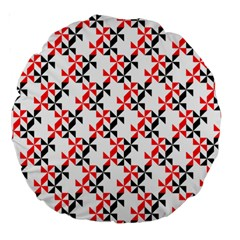 Pattern Large 18  Premium Round Cushions by gasi
