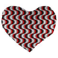 Pattern Large 19  Premium Flano Heart Shape Cushions by gasi