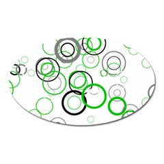 Pattern Oval Magnet by gasi