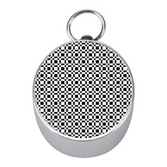 Pattern Mini Silver Compasses by gasi