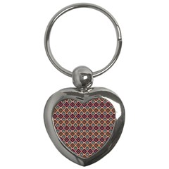Native American Pattern 4 Key Chains (heart)  by Cveti