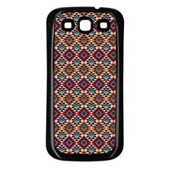 Native American Pattern 4 Samsung Galaxy S3 Back Case (black) by Cveti
