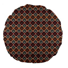 Native American Pattern 4 Large 18  Premium Flano Round Cushions by Cveti