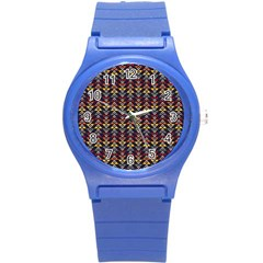 Native American Pattern Round Plastic Sport Watch (s) by Cveti