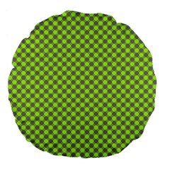 Pattern Large 18  Premium Flano Round Cushions by gasi