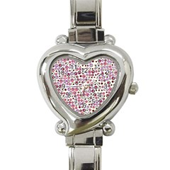 Pattern Heart Italian Charm Watch by gasi