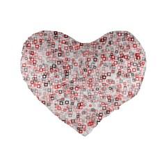 Pattern Standard 16  Premium Flano Heart Shape Cushions by gasi