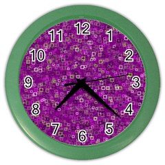 Pattern Color Wall Clocks by gasi