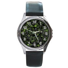 Pattern Round Metal Watch by gasi