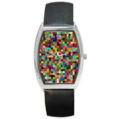 Pattern Barrel Style Metal Watch by gasi