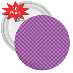 Pattern 3  Buttons (10 Pack)  by gasi