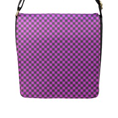 Pattern Flap Messenger Bag (l)  by gasi