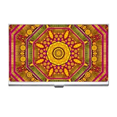 Sunshine Mandala And Other Golden Planets Business Card Holders by pepitasart