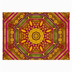 Sunshine Mandala And Other Golden Planets Large Glasses Cloth (2 Side) by pepitasart