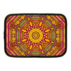 Sunshine Mandala And Other Golden Planets Netbook Case (medium)  by pepitasart
