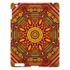 Sunshine Mandala And Other Golden Planets Apple Ipad 3/4 Hardshell Case by pepitasart