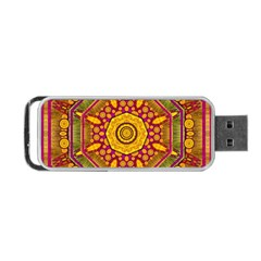 Sunshine Mandala And Other Golden Planets Portable Usb Flash (one Side) by pepitasart