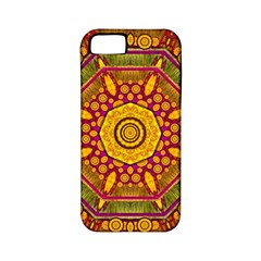 Sunshine Mandala And Other Golden Planets Apple Iphone 5 Classic Hardshell Case (pc+silicone) by pepitasart