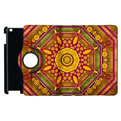 Sunshine Mandala And Other Golden Planets Apple Ipad 2 Flip 360 Case by pepitasart