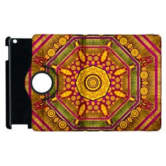 Sunshine Mandala And Other Golden Planets Apple Ipad 3/4 Flip 360 Case by pepitasart