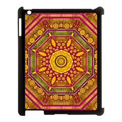 Sunshine Mandala And Other Golden Planets Apple Ipad 3/4 Case (black) by pepitasart
