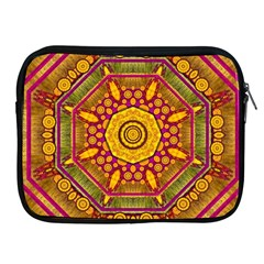 Sunshine Mandala And Other Golden Planets Apple Ipad 2/3/4 Zipper Cases by pepitasart
