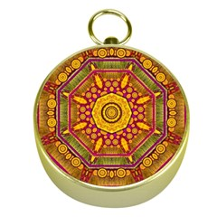 Sunshine Mandala And Other Golden Planets Gold Compasses by pepitasart