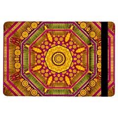 Sunshine Mandala And Other Golden Planets Ipad Air Flip by pepitasart