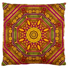 Sunshine Mandala And Other Golden Planets Standard Flano Cushion Case (one Side) by pepitasart
