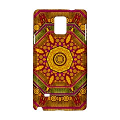 Sunshine Mandala And Other Golden Planets Samsung Galaxy Note 4 Hardshell Case by pepitasart
