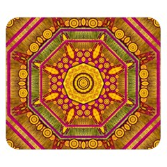 Sunshine Mandala And Other Golden Planets Double Sided Flano Blanket (small)  by pepitasart