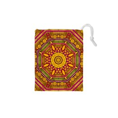 Sunshine Mandala And Other Golden Planets Drawstring Pouches (xs)  by pepitasart