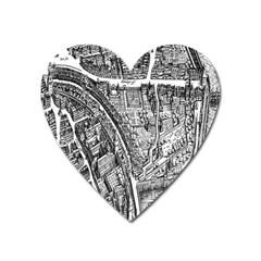 Frankfurt Judengasse Heart Magnet by Celenk