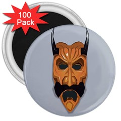 Mask India South Culture 3  Magnets (100 Pack) by Celenk