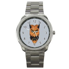 Mask India South Culture Sport Metal Watch by Celenk