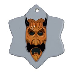 Mask India South Culture Snowflake Ornament (two Sides) by Celenk