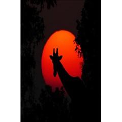Giraffe Animal Africa Sunset 5 5  X 8 5  Notebooks by Celenk