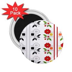 Bulgarian Folk Art Folk Art 2 25  Magnets (10 Pack)  by Celenk