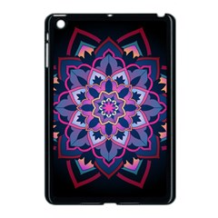 Mandala Circular Pattern Apple Ipad Mini Case (black) by Celenk