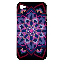 Mandala Circular Pattern Apple Iphone 4/4s Hardshell Case (pc+silicone) by Celenk