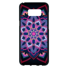 Mandala Circular Pattern Samsung Galaxy S8 Plus Black Seamless Case by Celenk